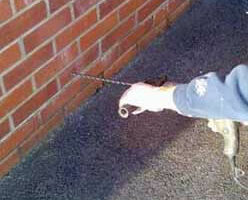 Drilling Holes for Damp Treatment - Damp Proofing Cape Town